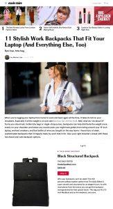 11 Best Work Backpacks for Women 2019 - Stylish Laptop Backpacks - marieclaire.com - 2019 06 18 - Alexandra Lapp - found on https://www.marieclaire.com/fashion/g28006462/work-backpacks-laptop/?slide=1