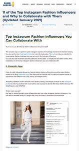 11 of the Top Instagram Fashion Influencers and Why to Collaborate with Them - shanebarker.com - 2021 01 22 - Alexandra Lapp - found on https://shanebarker.com/blog/instagram-fashion-influencers/