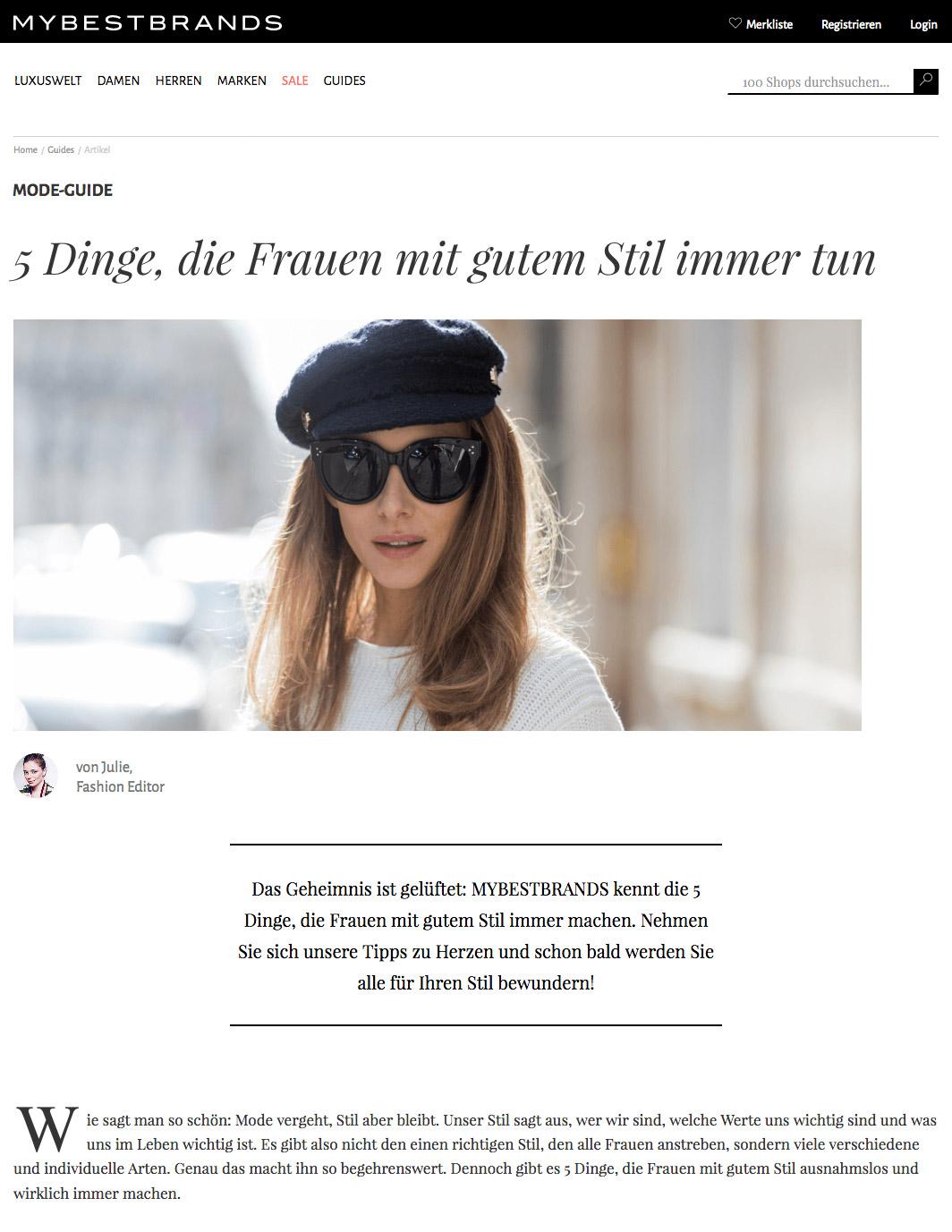 5 Dinge die Frauen mit gutem Stil immer tun - MYBESTBRAND - 2017 04 - Alexandra Lapp - found on https://www.mybestbrands.de/guides/5-dinge-frauen-gutem-stil-tun/?utm_source=outbrain&utm_medium=cpc&utm_campaign=FRAUENSTIL&utm_content=5+Dinge%2C+die+Frauen+mit+gutem+Stil+immer+tun&utm_term=Regional