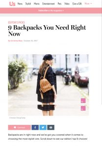8 Must Have Backpacks - usmagazine com - 2017-10-25 - Alexandra Lapp - found on https://www.usmagazine.com/stylish/pictures/8-must-have-backpacks/