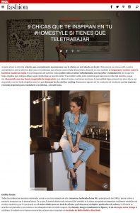 9 chicas que te inspiran en tu Home Style si tienes que teletrabajar - Foto 1 - fashion.hola.com - 2020 03 24 - Alexandra Lapp - found on https://fashion.hola.com/tendencias/galeria/2020032569259/chicas-looks-oficina-teletrabajo/1/