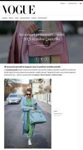 Accessori primavera estate 2021 in colori pastello - Vogue Italia - vogue.it - 2021 04 08 - Alexandra Lapp - found on: https://www.vogue.it/moda/gallery/accessori-primavera-estate-2021-colori-pastello-chanel-gucci