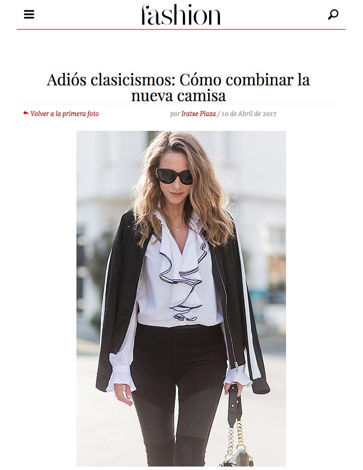 Adios clasicismos - Como combinar la nueva camisa - Fashion Hola - 2017 04 - Alexandra Lapp - 2 - found on http://fashion.hola.com/tendencias/galeria/2017041063174/camisa-rayas-oxford-blanca/13/