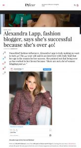 Alexandra Lapp fashion blogger says she's successful because she's over 40 - infleur.com - 2019 11 06 - Alexandra Lapp - found on https://www.infleur.com/alexandra-lapp-fashion-blogger-says-shes-successful-because-shes-over-40/