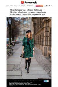 Alexandra Lapp ornou a bota over the knee de Christian Louboutin com look xadrez e saia plissada durante a Berlin-Fashion-Week em janeiro de 2019 - purepeople.com.br - 2019 10 - Alexandra Lapp - found on https://www.purepeople.com.br/midia/alexandra-lapp-ornou-a-bota-over-the-kne_m3162917