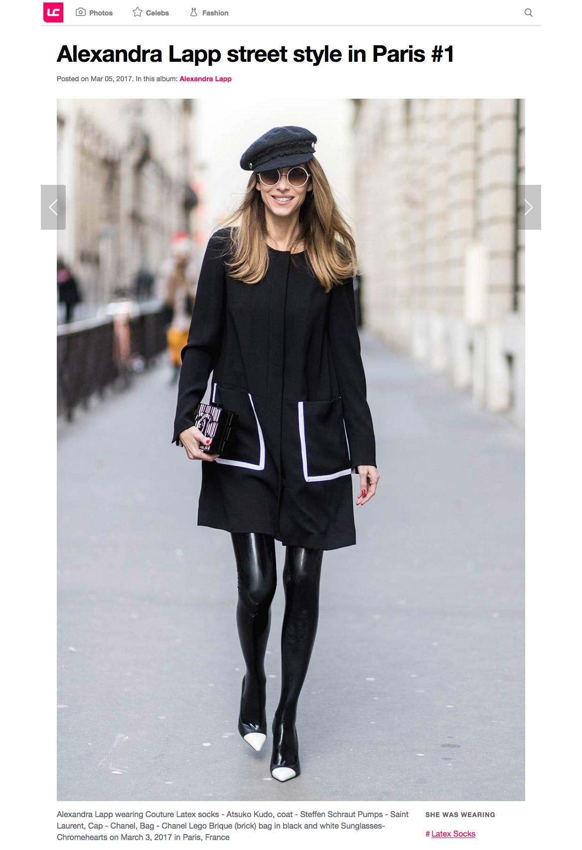 Alexandra Lapp street style in Paris 1 - Leather Celebrities - 2017 03 - found on http://www.leathercelebrities.com/photos/entry/alexandra-lapp-street-style-in-paris-1/