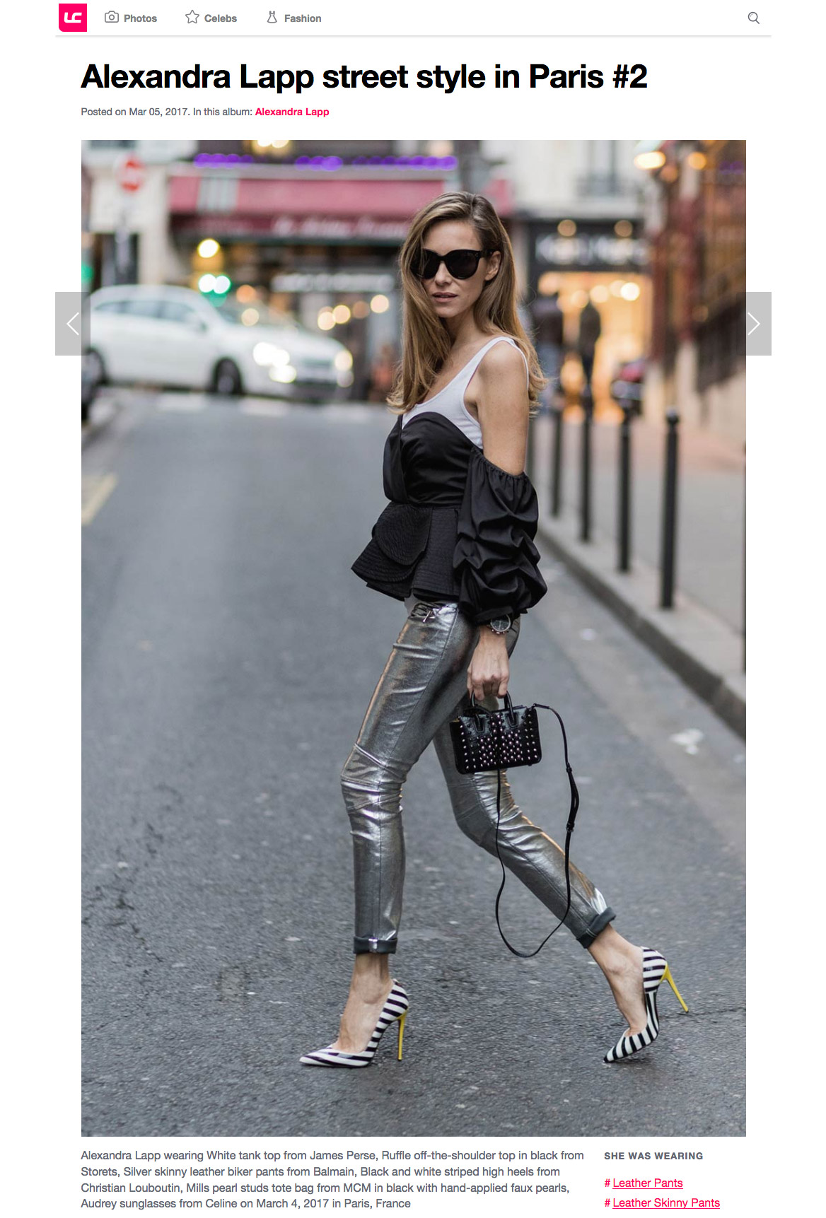 Alexandra Lapp street style in Paris 2 - Leather Celebrities - 2017 03 - found on http://www.leathercelebrities.com/photos/entry/alexandra-lapp-street-style-in-paris-2/