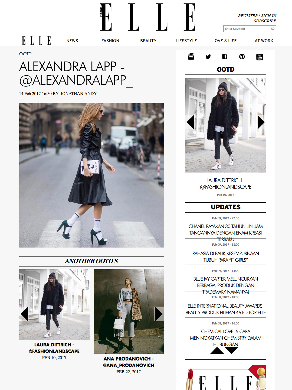 Alexandra Lapp Street Style - Found on http://www.elle.co.id/ootd/alexandra-lapp-alexandralapp-6