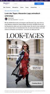 Alexandra Lapps Streetstyle auf der Berlin Fashion Week - de.style.yahoo.com - 2019 01 17 - Alexandra Lapp - found on https://de.style.yahoo.com/look-des-tages-alexandra-lapp-animalisch-unterwegs-135901082.html