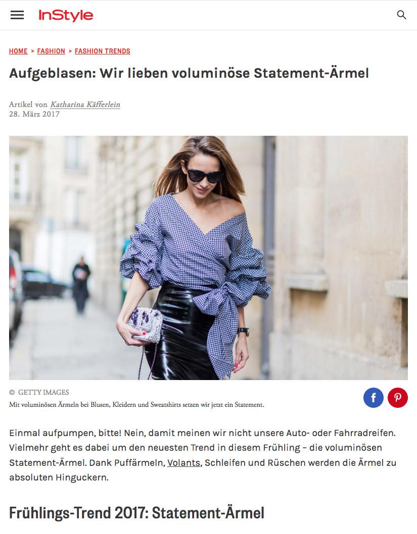 Aufgeblasen - Wir lieben voluminöse Statement Ärmel - 2017 03 - Alexandra Lapp - found on http://www.instyle.de/fashion/statement-aermel-volumen
