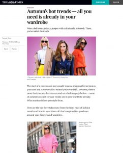 Autumns hot trends - All you need is already in your wardrobe - The Times - thetimes.co.uk - 2018 10 10 - Alexandra Lapp - found on https://www.thetimes.co.uk/article/autumns-hot-trends-all-you-need-is-already-in-your-wardrobe-v7b3r58qm