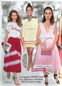 BUNTE 2018 Nr. 41 Page 54 - Leuchtende Farben und sexy Solhouetten - Alexandra Lapp
