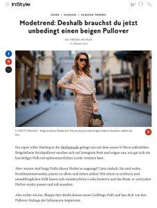 Beige Strickpullover sind diesen Herbst ein großer Modetrend - Instyle - instyle.de - 2019 10 13 - Alexandra Lapp - found on https://www.instyle.de/fashion/modetrend-pullover-beige-herbst
