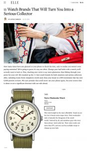 Best Watch Brands for Women - 10 Investment Watch Brands For Women - ELLE - elle.com - 2019 07 12 - Alexandra Lapp - found on https://www.elle.com/fashion/shopping/g28376042/best-watch-brands-for-women/?slide=1