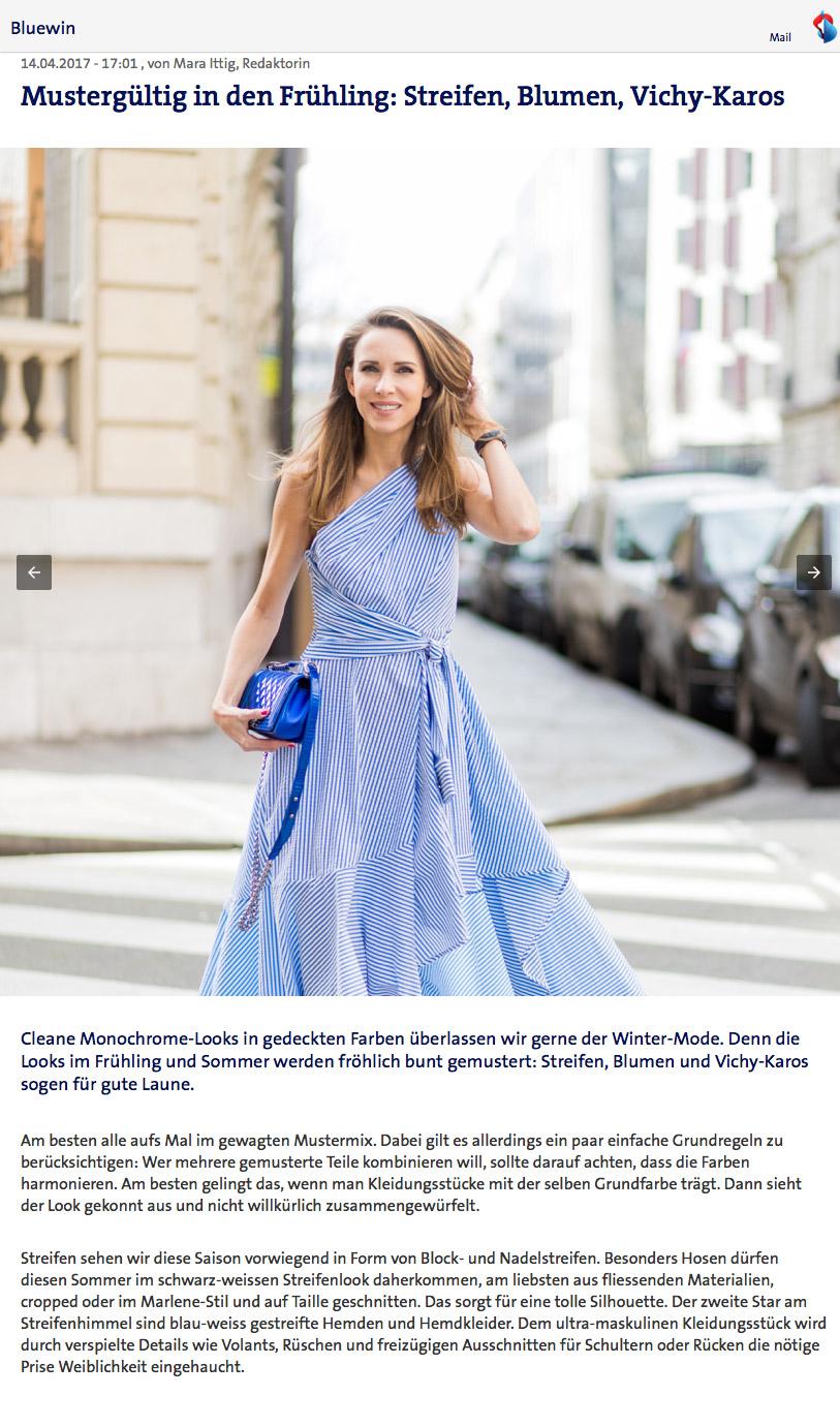 Bluewin Mustergültig in den Frühling - Streifen Blumen Vichy Karos - 3- 2017 04 - Alexandra Lapp - found on https://www.bluewin.ch/de/leben/lifestyle/redaktion/2017/17-04/mustergueltig-streifen-vichy-blumen.amp.html
