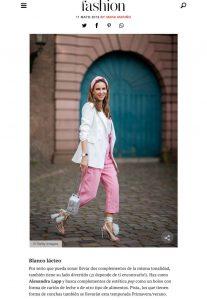 Bolsos y zapatos a juego la tendencia de complementos entre las expertas en moda - fashion.hola.com_2019 05 11 - Alexandra Lapp - found on https://fashion.hola.com/tendencias/galeria/2019051167344/zapatos-bolsos-combinados-looks-inspiracion-primavera/1/