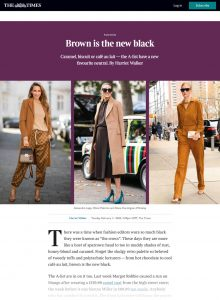 Brown is the new black - Times 2 - The Times - thetimes.co.uk - 2020 02 11 - Alexandra Lapp - found on https://www.thetimes.co.uk/past-six-days/2020-02-11/times2/brown-is-the-new-black-z8bzm5tbp