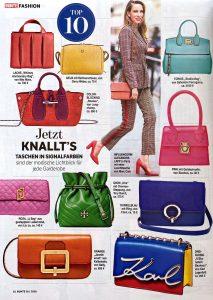 Bunte Germany - No. 16 -page 52 - 2020 04 08 - Fashion: Jetzt knallt's: Taschen in Signalfarben Alexandra Lapp