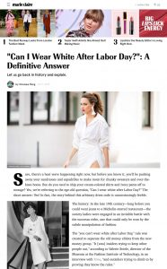 Can You Wear White After-Labor-Day - Labor Day Fashion Rule - marieclaire.com - 2019 07 09 - Alexandra Lapp - found on https://www.marieclaire.com/fashion/news/a22483/white-after-labor-day/