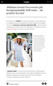 Cappello di paglia con scritte l accessorio estivo must - Stylight - stylight.it - 2020 07 23 - Alexandra Lapp - found on https://www.stylight.it/Magazine/Fashion/Cappello-Di-Paglia-Con-Scritte/