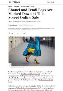 Chanel and Fendi Bags Are Marked Down at This Secret Online Sale - InStyle com - 2019 02 28 - Alexandra Lapp - found on https://www.instyle.com/fashion/accessories/bags/chanel-bags-on-sale