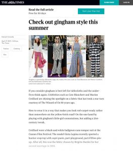 Check out gingham style this summer - The Times - thetimes-co-uk - 2018 04 27 - Alexandra Lapp - found on https://www.thetimes.co.uk/article/check-out-gingham-style-this-summer-dw2km9xvp