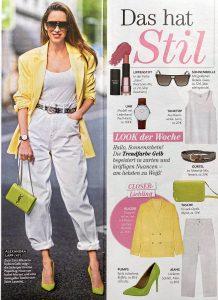 Closer Germany - No. 28 - 2020 06 24 - Das hat Stil - Look der Woche - Trendfarbe Gelb - Alexandra Lapp
