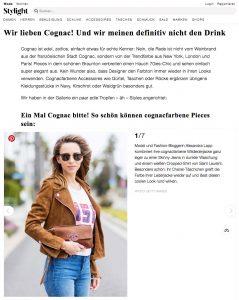Cognac Farbe - Die schönsten Outfits und Styling-Tipps - Stylight Schweiz - 2017 06 - Alexandra Lapp - found on https://www.stylight.ch/Magazine/Fashion/Cognac-Farbe/