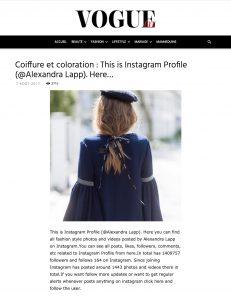 Coiffure et coloration - This is Instagram Profile Alexandra Lapp - VOGUE Tunisie Maroc Algerie - 2017 09 - Alexandra Lapp - found on https://vogue.tn/beaute/coiffures/coiffure-et-coloration-this-is-instagram-profile-alexandra-lapp-here/