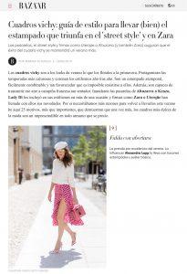 Cuadros vichy gu a de estilo para llevar el estampado del verano como una aut ntica fashionista - C mo llevar los cuadros vichy en 2019 - harpersbazaar.com/es - 2019 06 10 - Alexandra Lapp - found on https://www.harpersbazaar.com/es/moda/tendencias/g27878254/cuadros-vichy-zara-ideas-combinar/