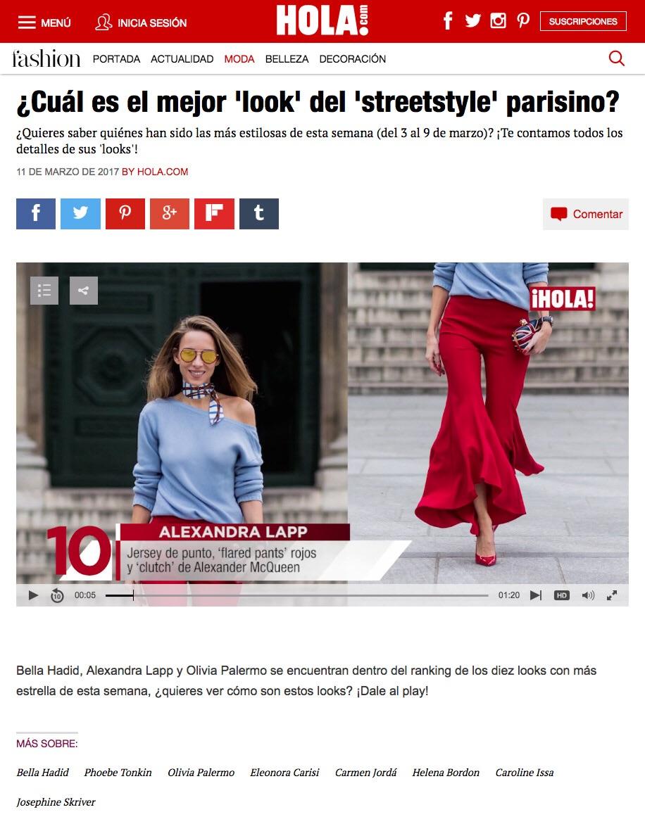 ¿Cuál es el mejor 'look' del 'streetstyle' parisino? - 2017-03 - Alexandra Lapp - found on http://www.hola.com/moda/2017031192278/mejores-looks-semana-9-marzo/