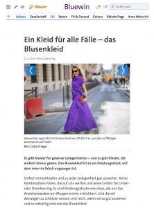 Das Blusenkleid - Ein Kleid für alle Fälle - bluewin.ch - 2019 05 11 - Alexandra Lapp - found on https://www.bluewin.ch/de/leben/stil/ein-kleid-fuer-alle-faelle-das-blusenkleid-248130.html