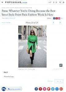 Day 2 Street Style at Paris Fashion Week Fall 2018 - POPSUGAR com - 2018 03 01 - Alexandra Lapp - found on https://me.popsugar.com/fashion/photo-gallery/44625676/image/44625661/Day-2