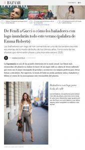 De Fendi a Gucci o la tendencia de banadores con logo - harpersbazaar.com/es - 2020 05 25 - Alexandra Lapp - found on https://www.harpersbazaar.com/es/moda/tendencias/g32657328/banadores-logo-tendencia-famosas-favorecer-cuerpo-truco-estilizar-verano-playa-2020/