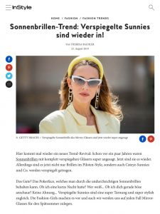 Deshalb brauchst du jetzt eine verspiegelte Sonnenbrille - Instyle - instyle.de - 2019 08 21 - Alexandra Lapp - found on https://www.instyle.de/fashion/verspiegelte-sonnenbrillen-trend