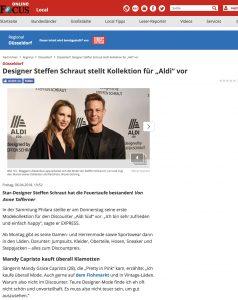 Designer Steffen Schraut stellt Kollektion für Aldi vor - FOCUS de - 2018 04 06 - Alexandra Lapp - found on https://www.focus.de/regional/duesseldorf/duesseldorf-designer-steffen-schraut-stellt-kollektion-fuer-aldi-vor_id_8724753.html
