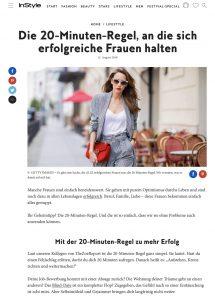 Die 20 Minuten Regel an die sich erfolgreiche Frauen halten - InsStyle Germany online - 2018 08 12 - Alexandra Lapp - found on https://www.instyle.de/lifestyle/20-minuten-regel-erfolgreich