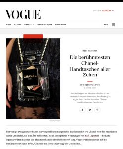 Die berühmtesten Chanel Handtaschen aller Zeiten - Vogue Germany online - 2019 03 08 - Alexandra Lapp - found on https://www.vogue.de/mode/artikel/beruehmte-chanel-handtaschen