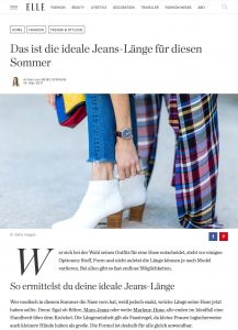Die ideale Jeans Länge für diesen Sommer - ELLE Deutschland - 2017 05 - Alexandra Lapp - found on http://www.elle.de/ideale-jeans-laenge