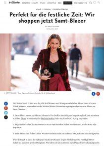 Die schönsten Samt-Blazer für Weihnachten - InStyle - instyle.de - 2018 12 13 - Alexandra Lapp - found on https://www.instyle.de/fashion/samt-blazer-shoppen