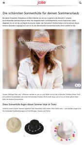 Die schönsten Sonnenhüte für deinen Sommerurlaub - jolie.de - 2019 06 26 - Alexandra Lapp - found on https://www.jolie.de/trends/die-schoensten-sonnenhuete-fuer-deinen-sommerurlaub-200520.html