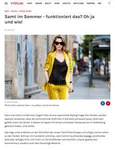 Die schönsten Trendteile des Sommers aus Samt - Instyle - 2017 07 - Alexandra Lapp - found on http://www.instyle.de/fashion/sommer-samt