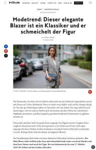 Dieser Blazer schmeichelt der Figur und ist Modetrend - InStyle Germany online - instyle.de - 2020 10 13 - Alexandra Lapp - found on https://www.instyle.de/shopping-deals/modetrend-gingham-blazer-stylestore