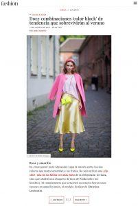 Doce combinaciones color block de tendencia que sobreviviran all verano - Foto 7 - fashion.hola.com - 2019 08 19 - Alexandra Lapp - found on https://fashion.hola.com/tendencias/galeria/2019081967916/looks-verano-otono-color-block-street-style/7/?viewas=amp