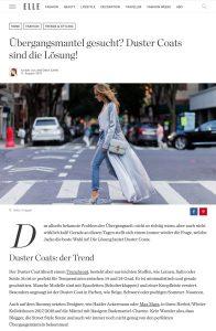 Duster Coats - Das sind die perfekten Übergangsmäntel - ELLE Deutschland - 2017 08 - Alexandra Lapp - found on http://www.elle.de/duster-coats