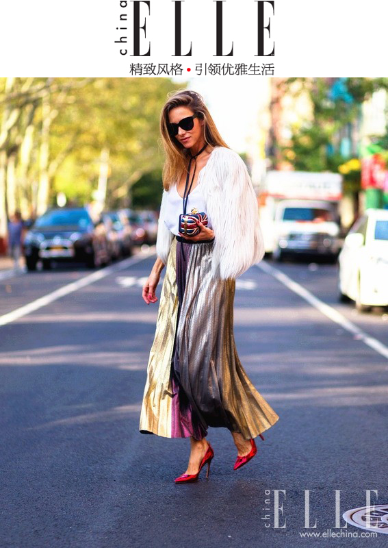 Alexandra Lapp Street Style at New York Fashion Week 2016 - Photo by Christian Vierig - Found on www.ellechina.com