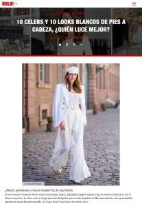 El color mas puro de la paleta invade el closet de las celebs - Foto 9 - us.hola.com/es - 2019 08 19 - Alexandra Lapp - found on https://us.hola.com/es/moda/galeria/2019081924893/vestidos-blancos-verano-vv/9/