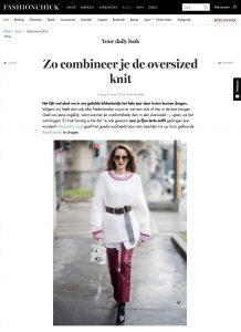 Elke dag een look Oversized knit - Fashionchick nl - 2018 03 09 - Alexandra Lapp - found on https://www.fashionchick.nl/fashionnews/zo-combineer-je-de-oversized-knit/10346.html