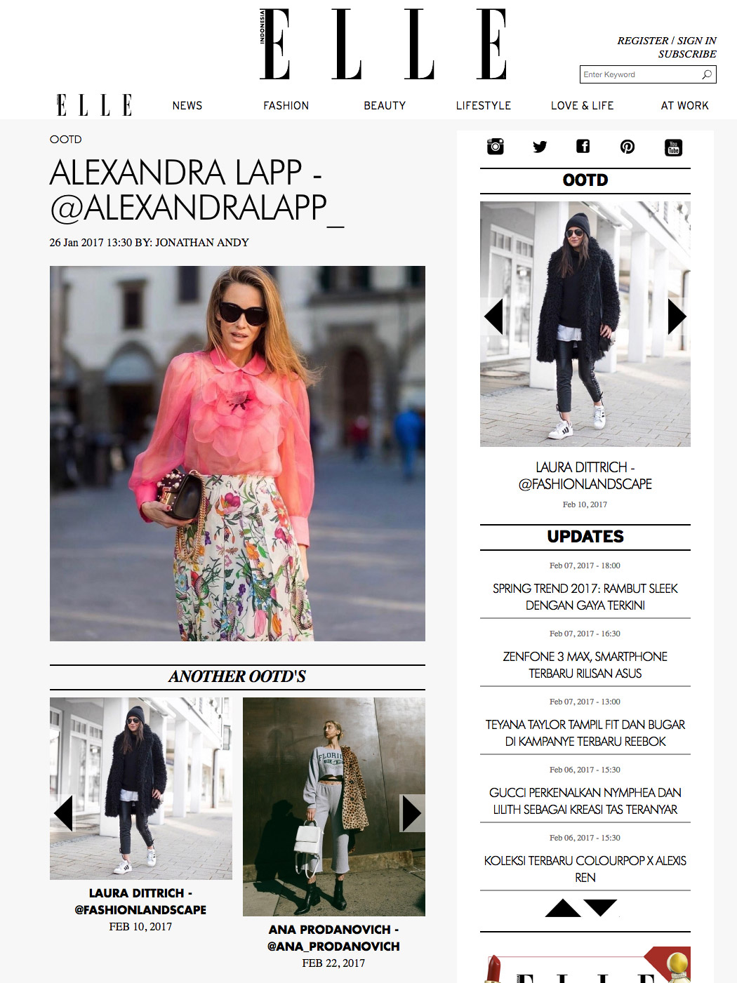 Alexandra Lapp Street Style - Found on http://www.elle.co.id/ootd/alexandra-lapp-alexandralapp-3