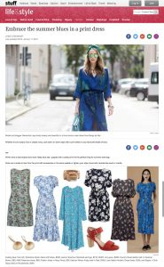 Embrace the summer blues in a print dress - Stuff co nz - 2018 01 11 - Alexandra Lapp - found on https://www.stuff.co.nz/life-style/fashion/100216344/embrace-the-summer-blues-in-a-print-dress